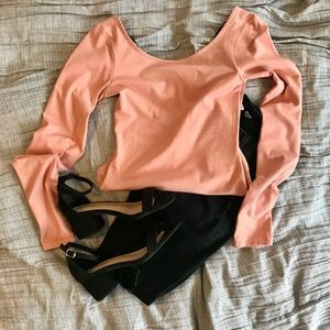 H&M Dusty Pink Boatneck Body Suit - Size: XS NWOT!